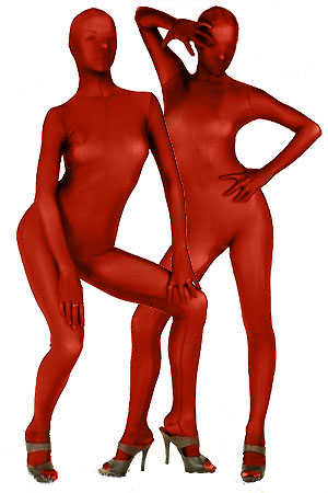 Deep Red Lycra Spandex Zentai Suit