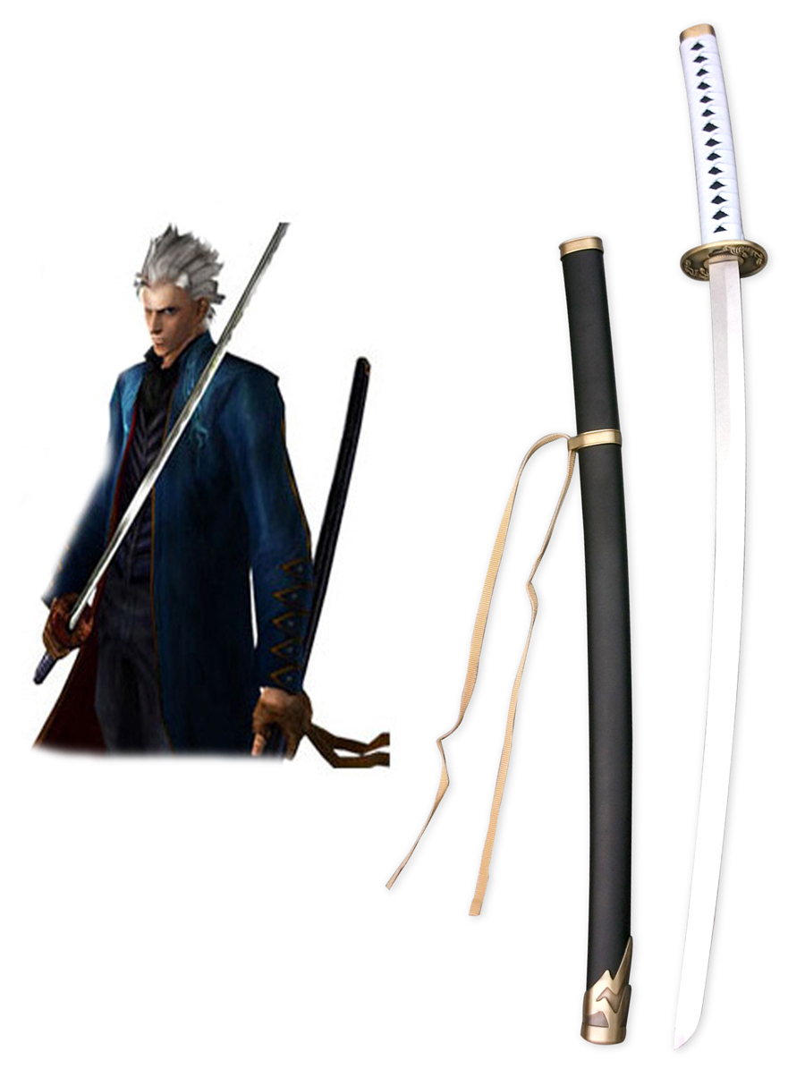 Devil May Cry 3 Dante's Awakening Vergil Yamato Cosplay Weapons