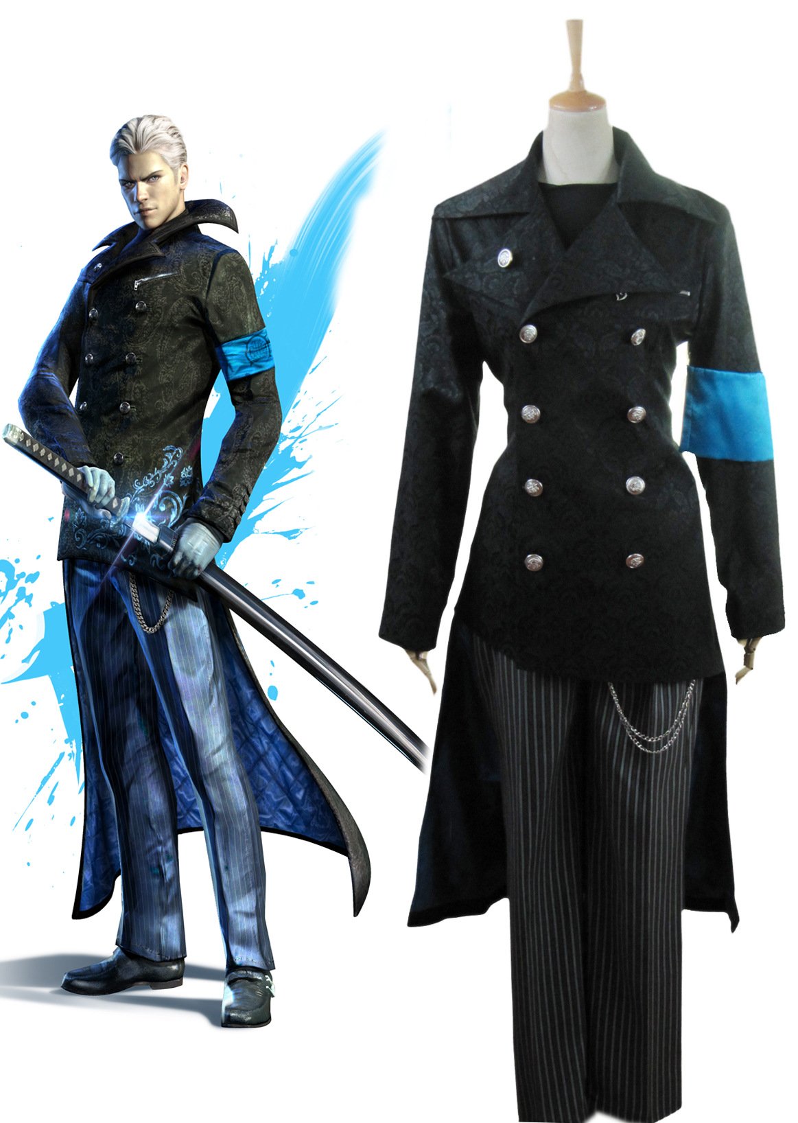 Devil May Cry5 Vergil Yougth Cosplay Costume