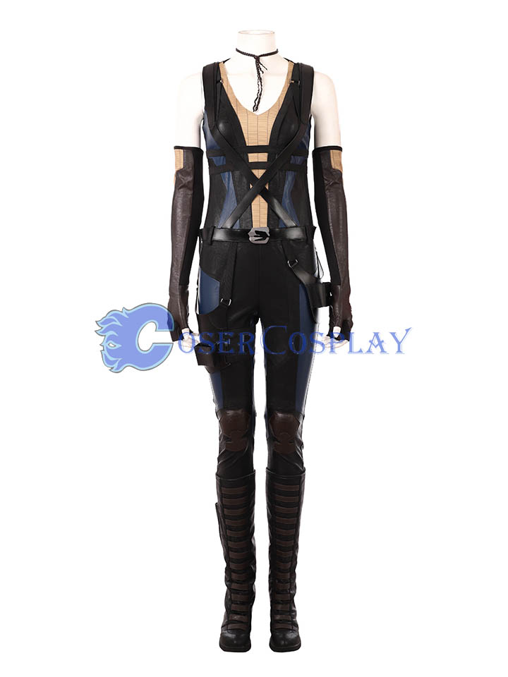 2018 Domino Cosplay Costume Deadpool 2