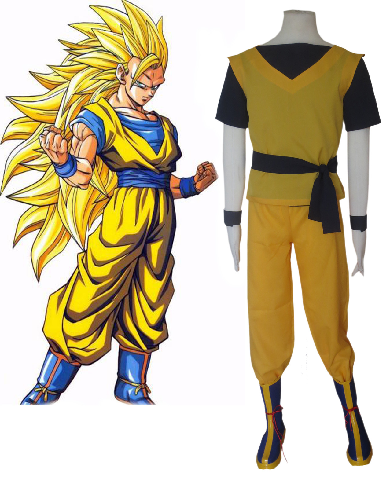 Dragon BallZ Son Gokū Super Saiyan Cosplay Costume