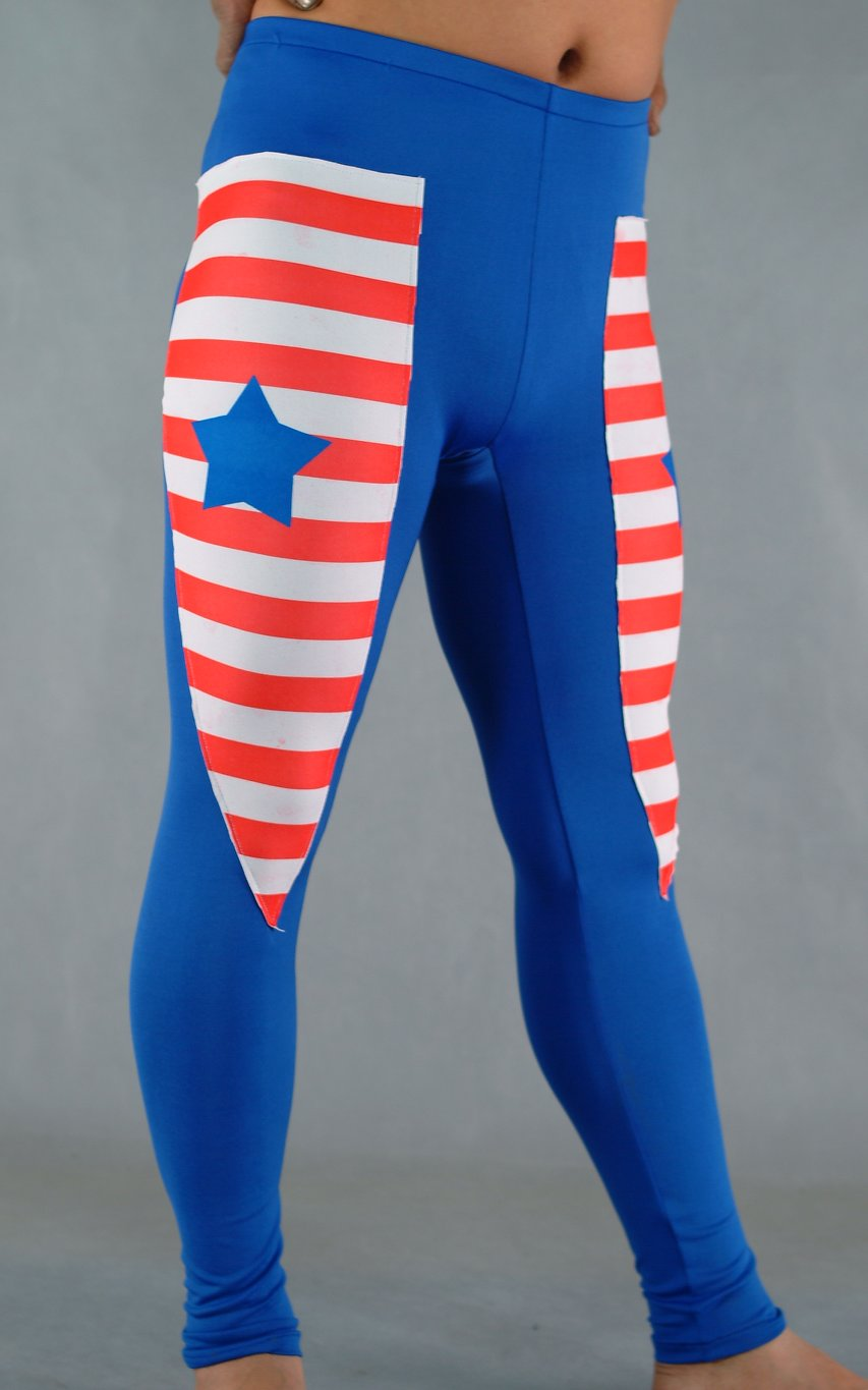 Flag Star Blue Spandex Leggings