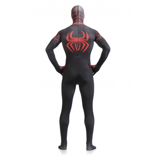 Full Body Adult Black Spiderman Costume