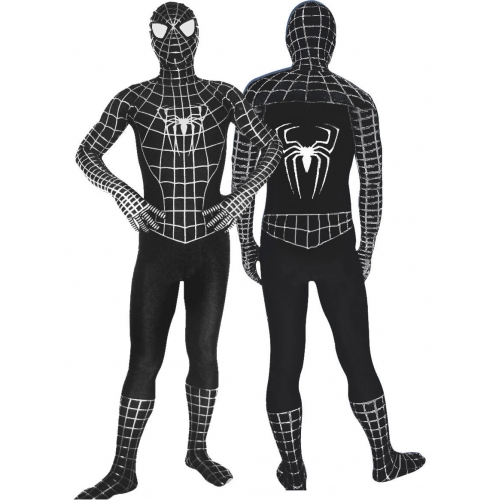 Full Body Black Spiderman Costume