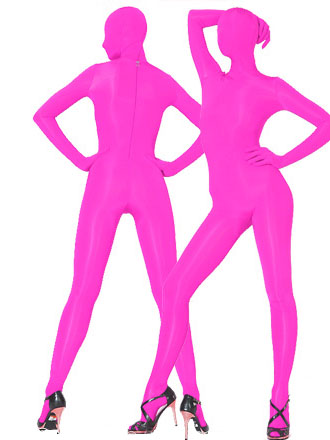 Fushia Lycra Fabric Zentai Suits