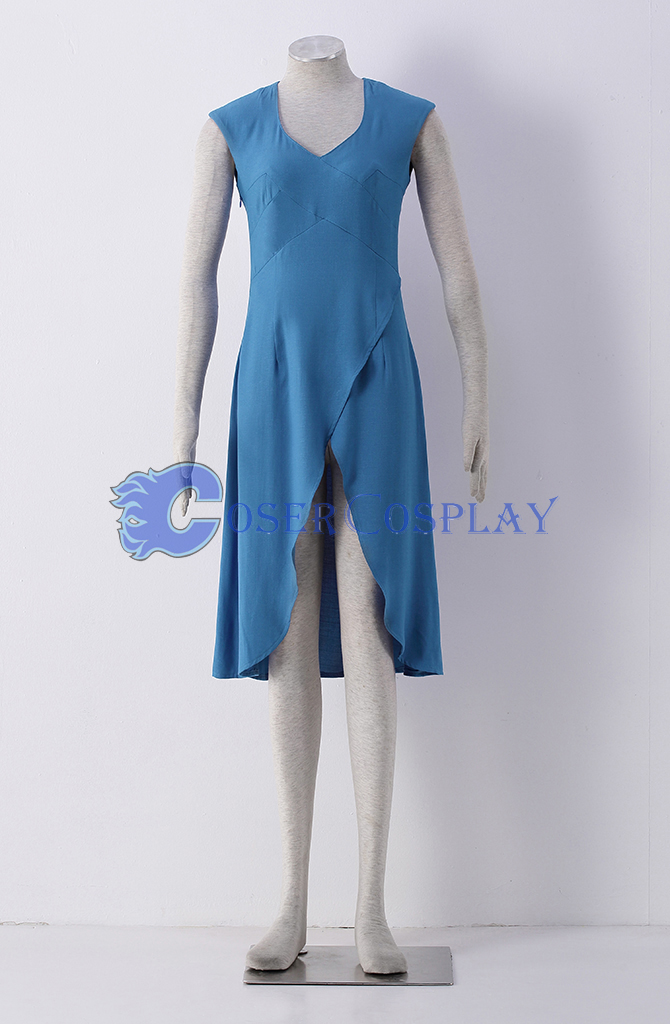 Game of Thrones Daenerys Targaryen Blue Cosplay Costume