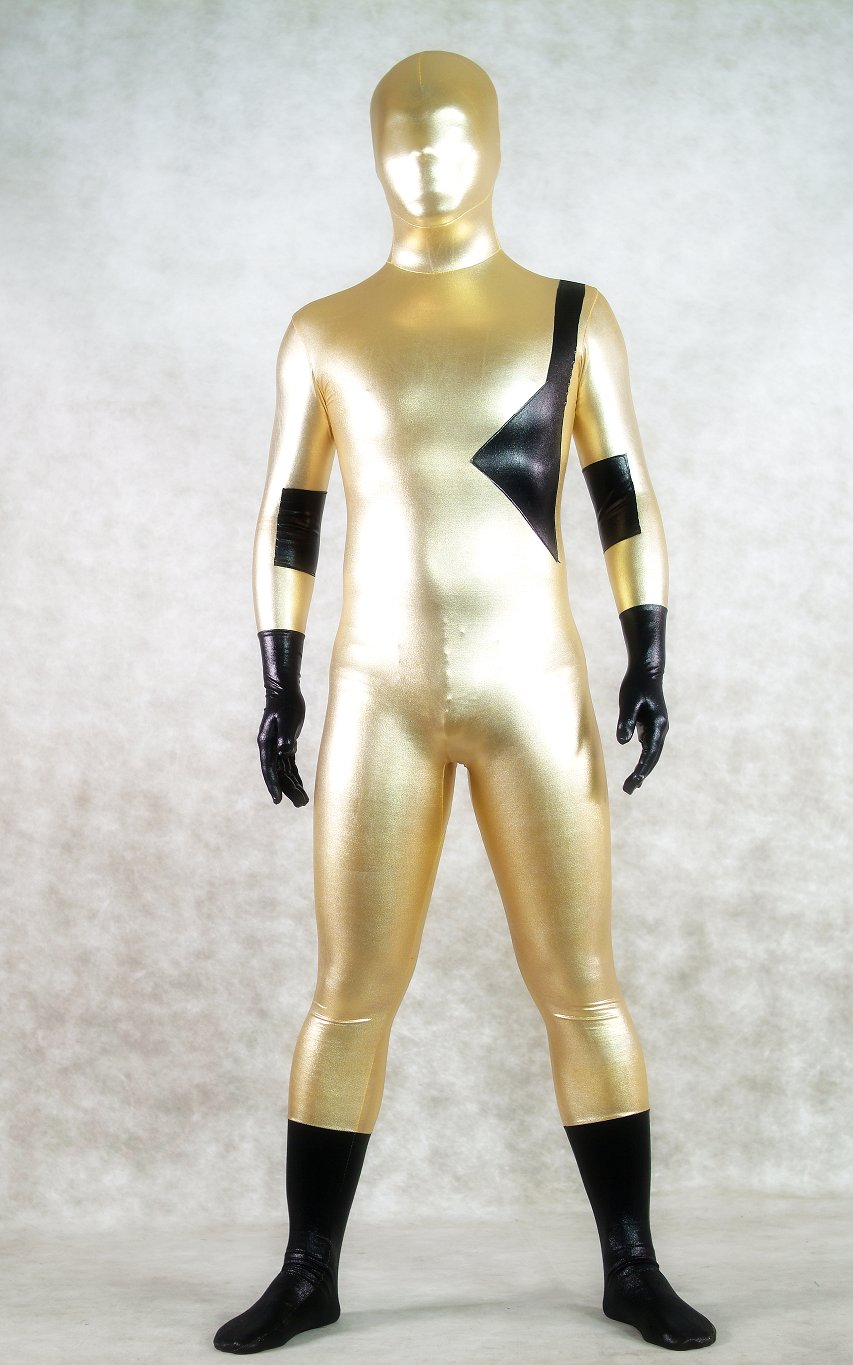 Gold Man Shiny Spandex Halloween Costumes Zentai