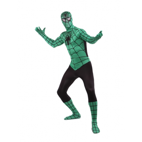 Green And Black Spiderman Halloween Costume