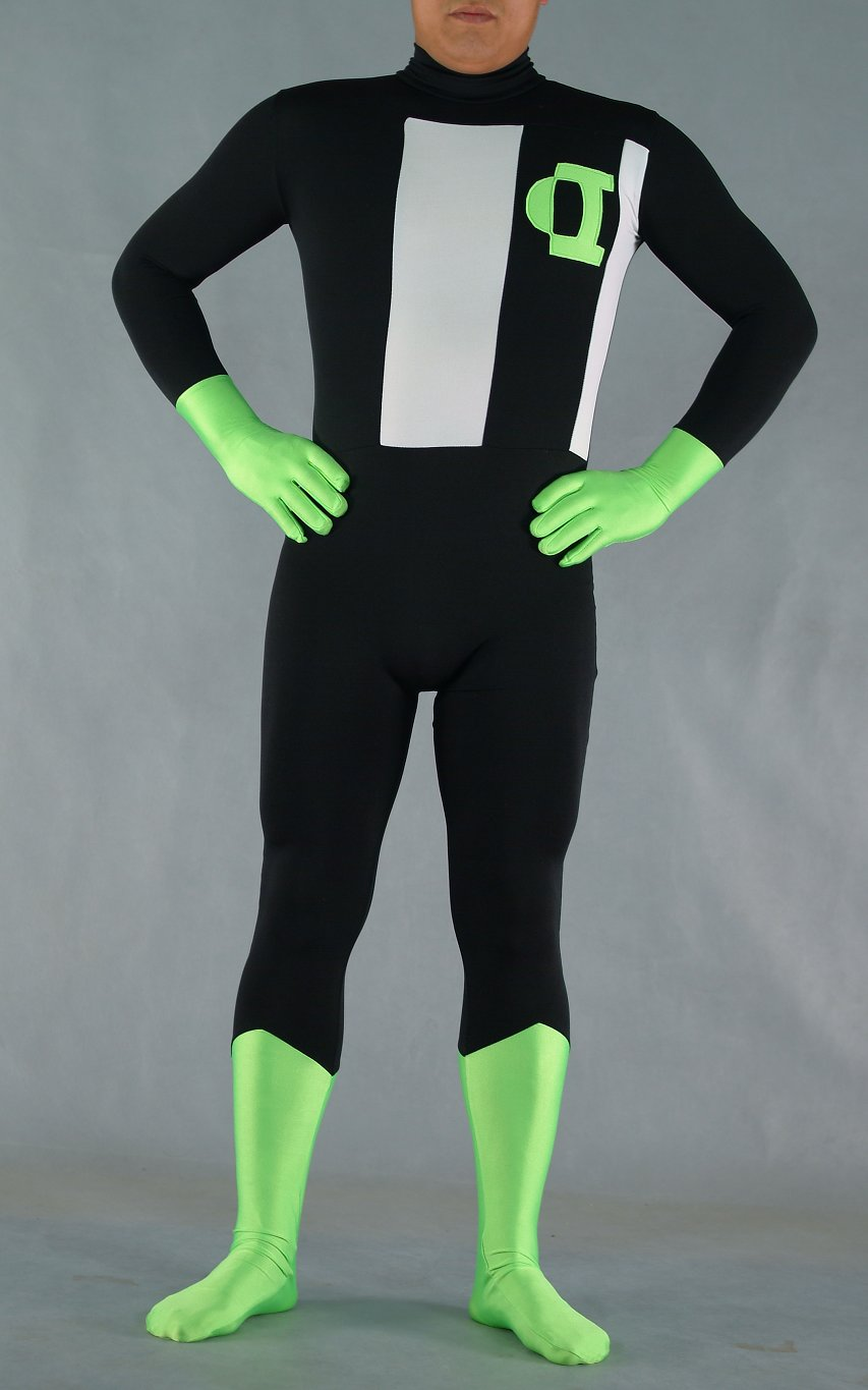 Green Black Halloween Costumes Catsuit