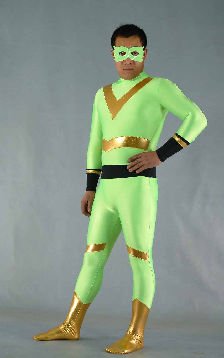 Green Spandex Halloween Costumes Catsuit