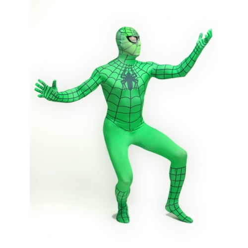 Green Zentai Spiderman Halloween Costume
