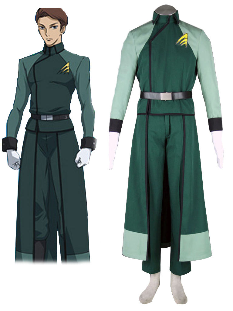 Gundam00 A Laws Male Uniform Cosplay Costume