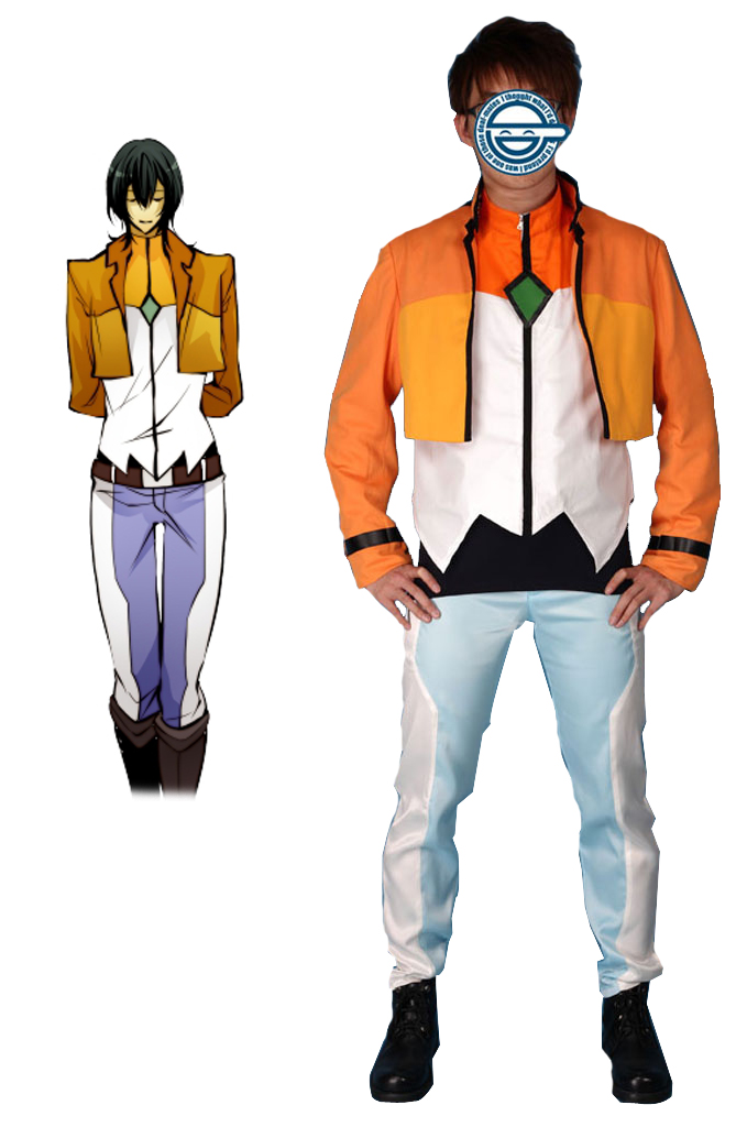 Gundam00 Celestial Being Alleulujah Haptism Gundam Meisters Uniform Cosplay Costume