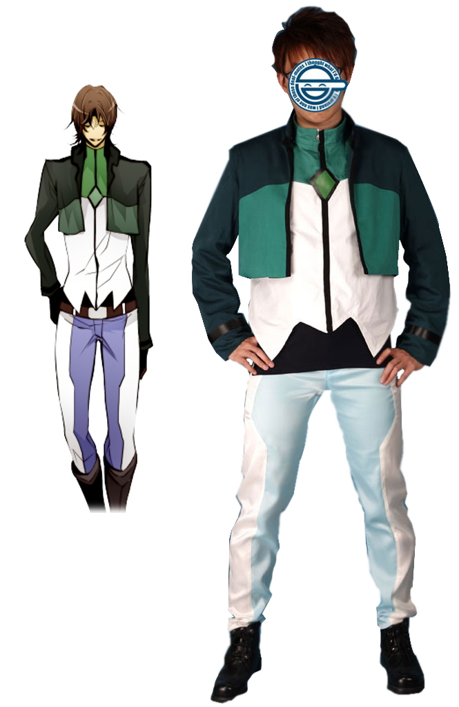 Gundam00 Celestial Being Lockon Stratus Gundam Meisters Uniform Cosplay Costume