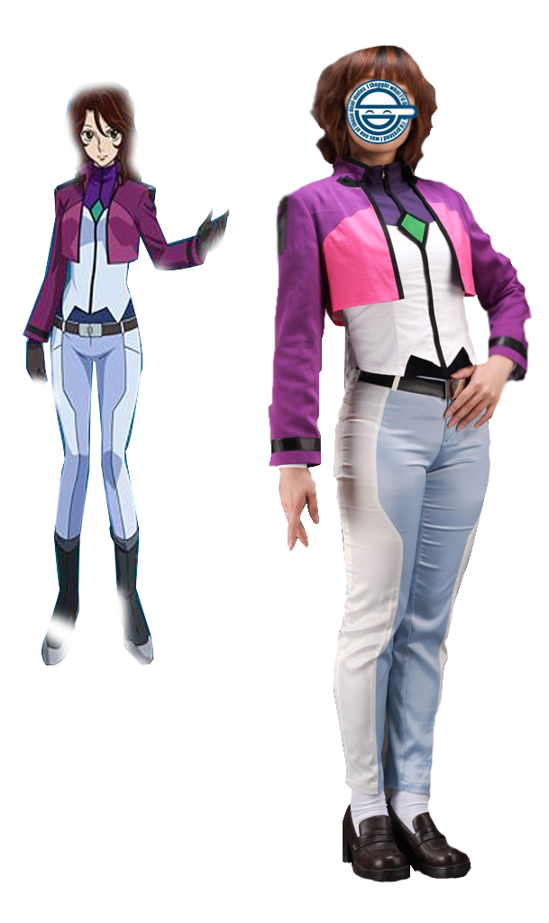 Gundam00 Celestial Being Sumeragi Lee Noriega Uniform Cosplay Costume