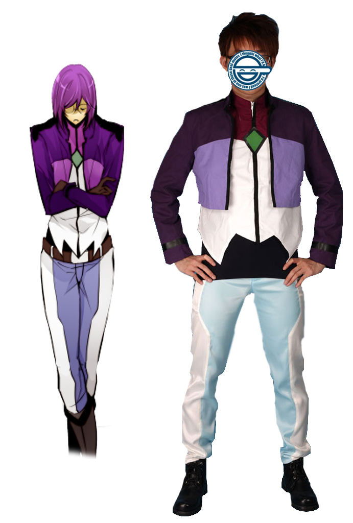 Gundam00 Celestial Being Tieria Erde Gundam Meisters Uniform Cosplay Costume