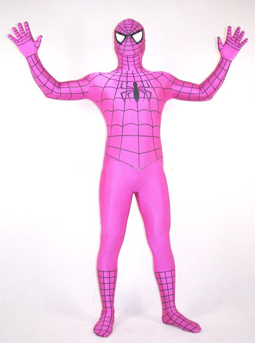 Halloween Costume Pink Spiderman Zentai 17030601
