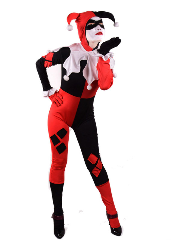 2019 Harley Quinn Cosplay Costume Outfit Halloween Uniform Suit