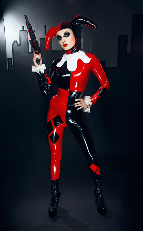 Harley Quinn Cosplay Costume For Halloween PVC 15112120