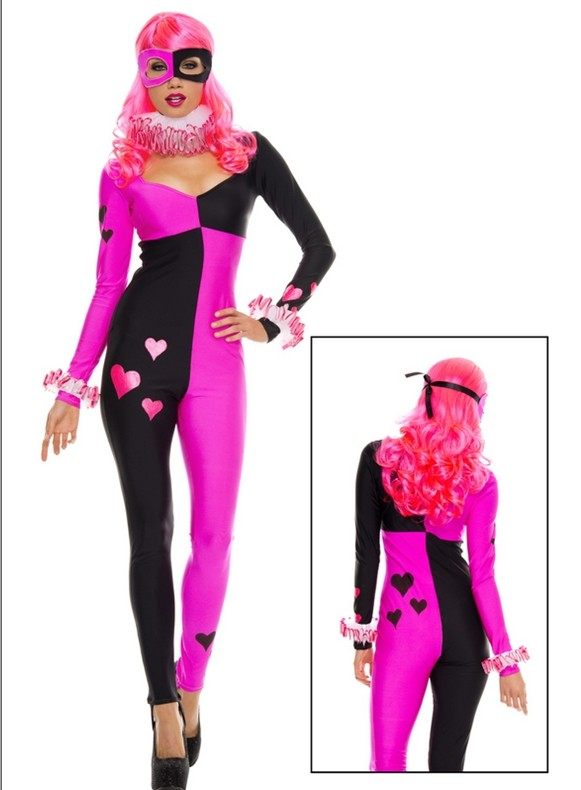 Harley Quinn Cosplay Costume Halloween Catsuit 15112088