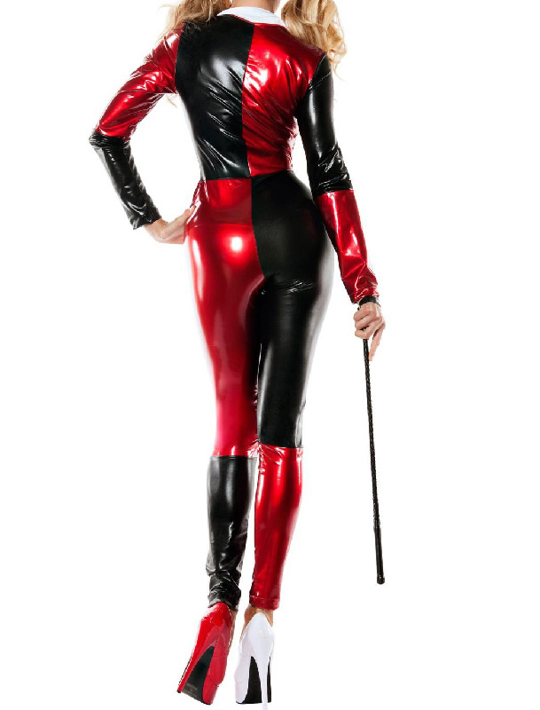 Harley Quinn Cosplay Costume Halloween Catsuit 15112104