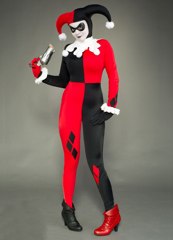 harley quinn cosplay costume halloween zentai 15112077. Black Bedroom Furniture Sets. Home Design Ideas