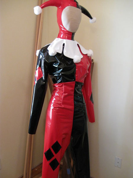 Harley Quinn Cosplay Costume PVC Suit Halloween 15112073