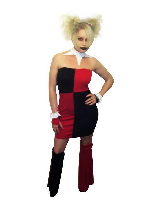 Harley quinn v nech costume dress cosercosplay com