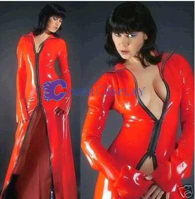 Red Pvc Long Dress Sexy Lingerie