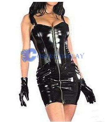 Black Pvc Short Dress Sexy Lingerie