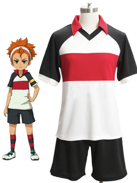 Inazuma.Eleven.Go Tengawara School Soccer team Summer Uniform Cosplay Costume