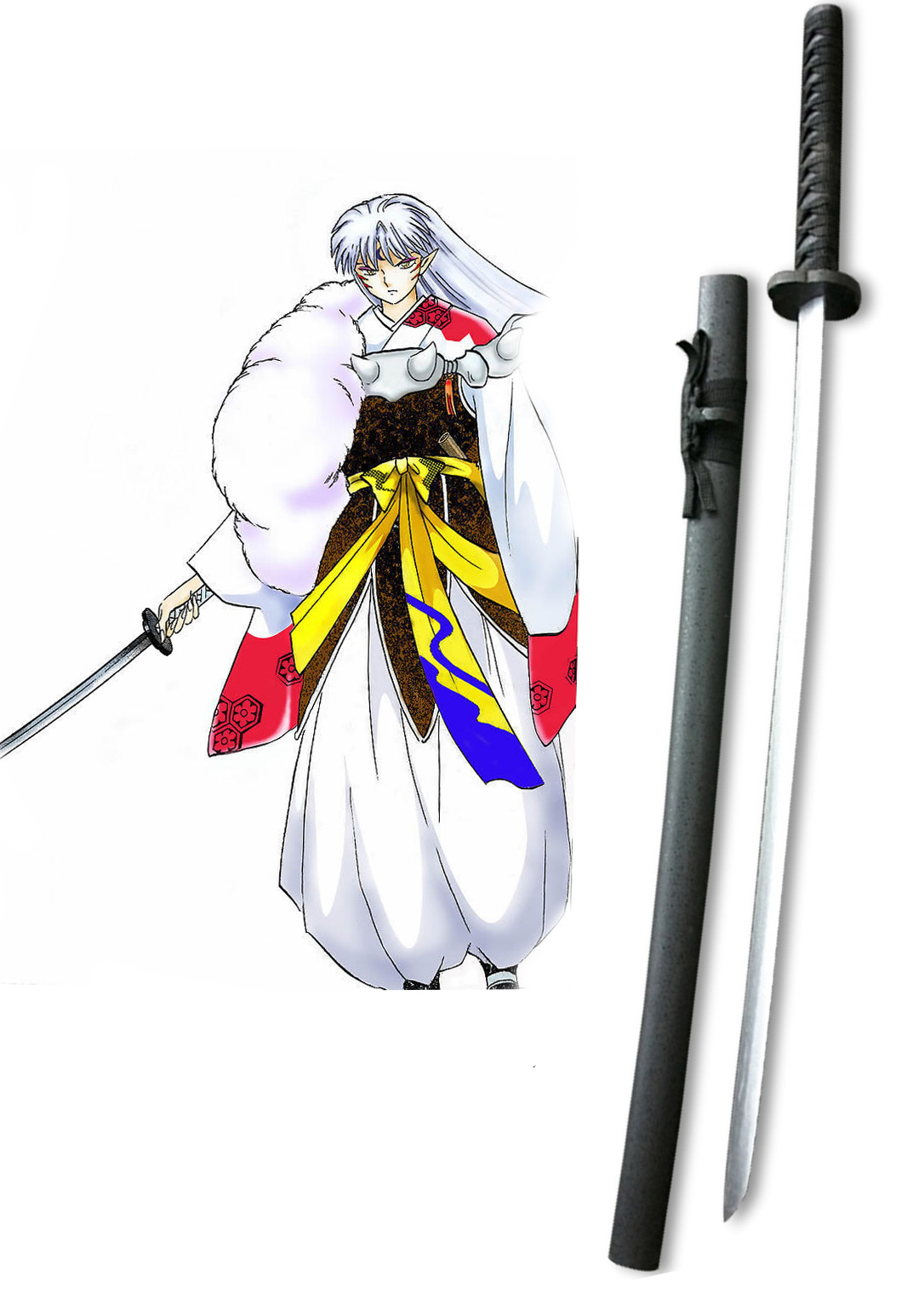 Inuyasha Sesshomaru Tenseiga Cosplay Wooden Weapons