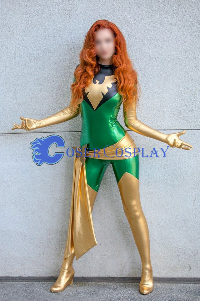 Jean Grey X Men Phoenix Sexy Cosplay Costume For Halloween