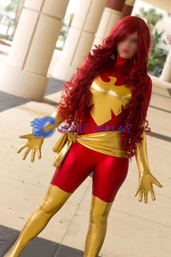 Jean Grey X Men Phoenix Sexy Halloween Cosplay Costume
