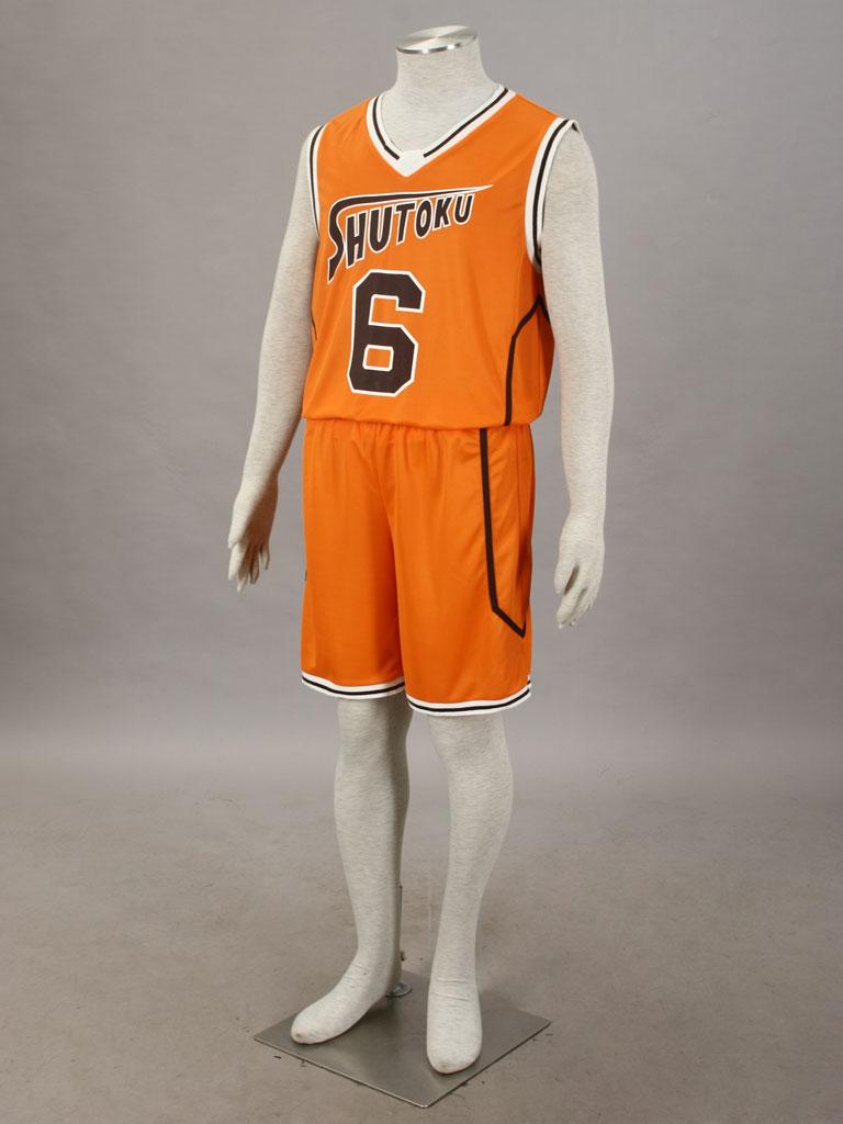 e40604208 Kuroko s Basketball Shintarō Midorima Shūtoku High School Basketball Team  Uniform Orange Number 6 Cosplay Costume
