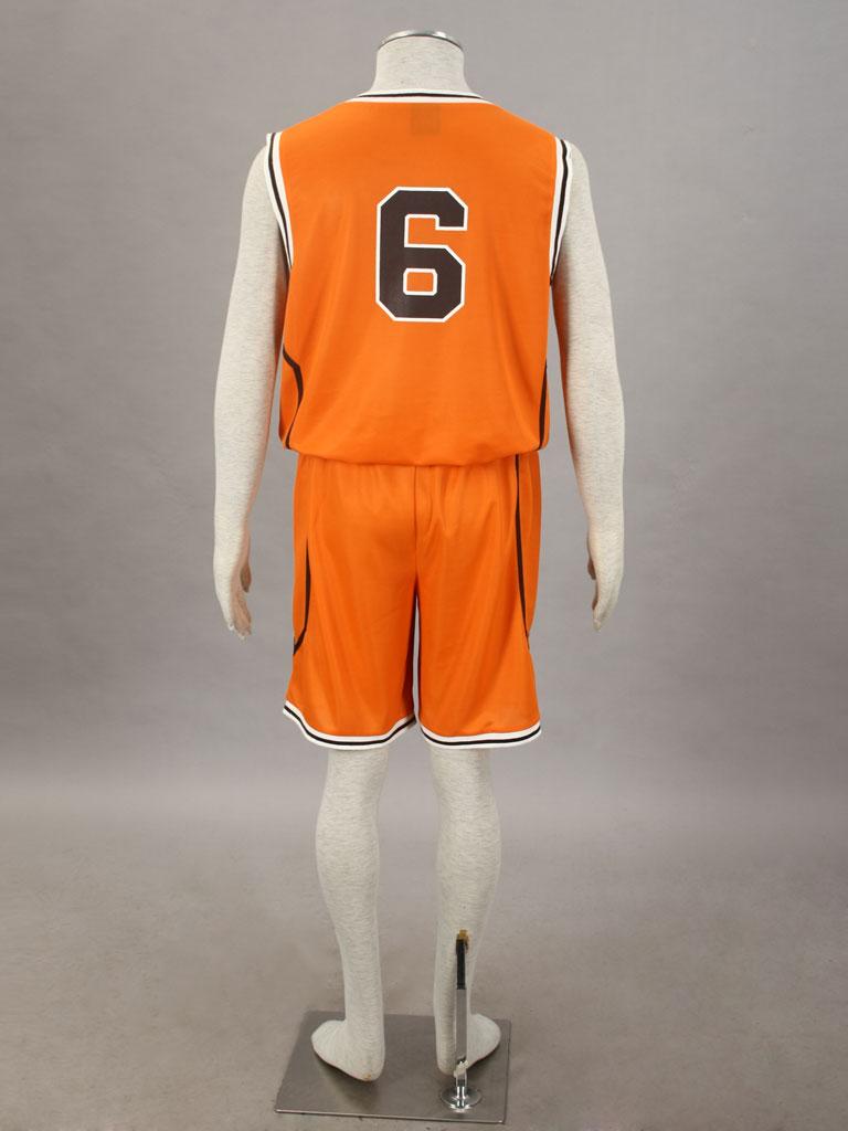 46c4509a4 Kuroko s Basketball Shintarō Midorima Shūtoku High School Basketball Team  Uniform Orange Number 6 Cosplay Costume.
