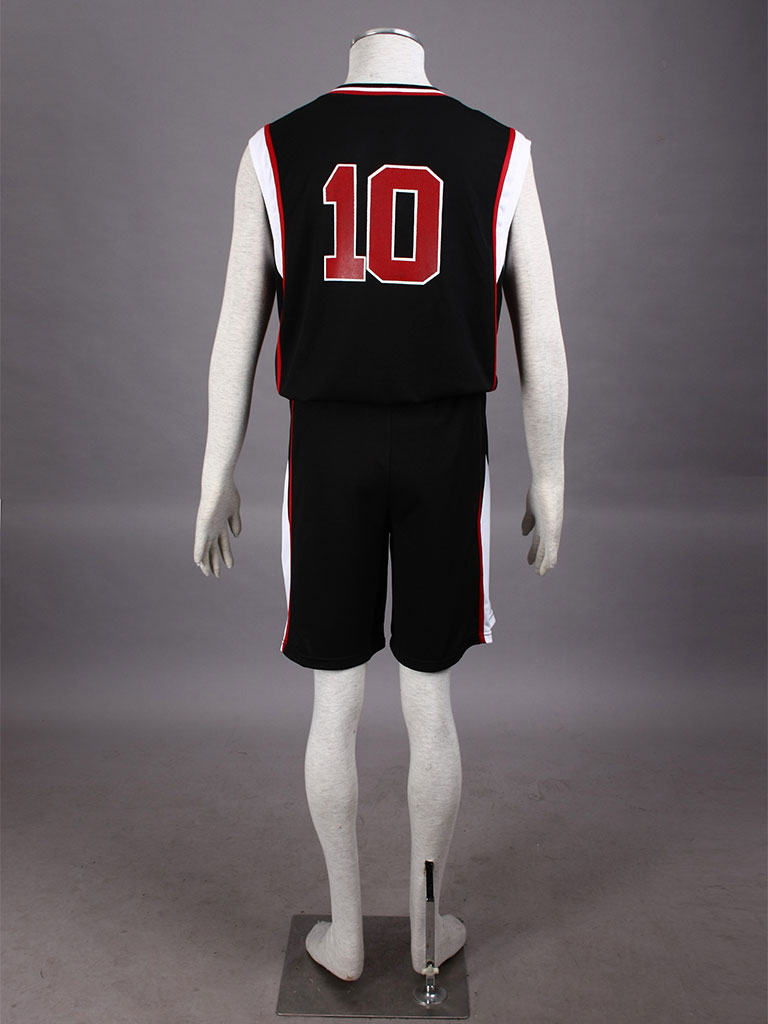Kuroko's Basketball Taiga Kagami Teikō Middle School Basketball Team Uniform Black Number 10 Cosplay Costume