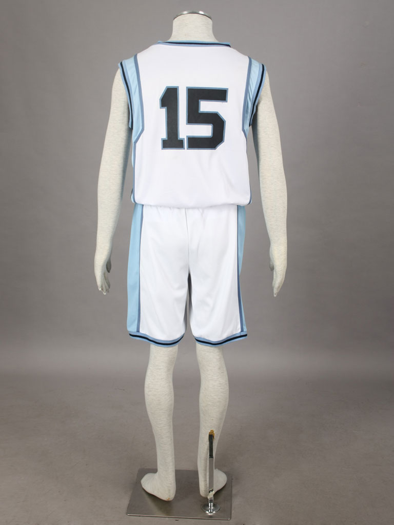 Kuroko's Basketball Taiga Kagami Teikō Middle School's basketball team Uniform White Number 15 Cosplay Costume