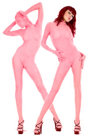 Light Pink Lycra Spandex Zentai Suit