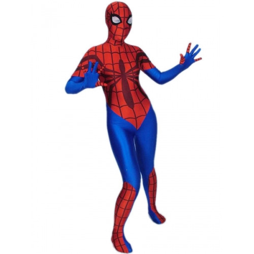 Lycra Female Spiderman Halloween Costume
