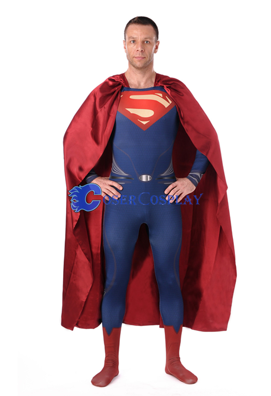 Man of Steel Superman Cosplay Costume With Cape