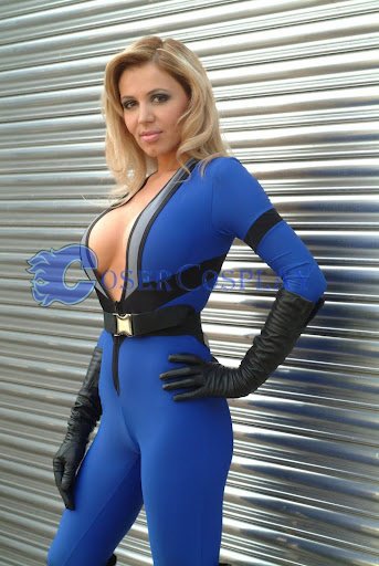 Marvel Sue Storm Spandex Catsuit Cosplay Costume