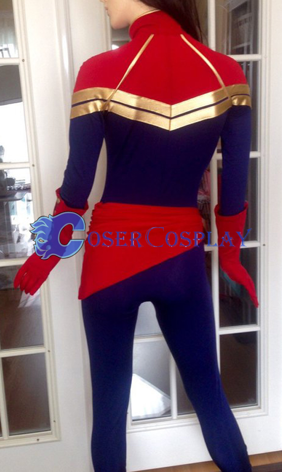 Marvel Super Heroes Carol Danvers Cosplay Costume