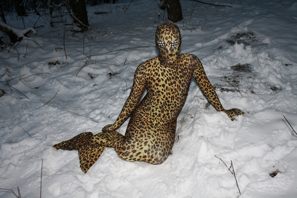 Mermaid Leopard Print Zentai Suit Halloween