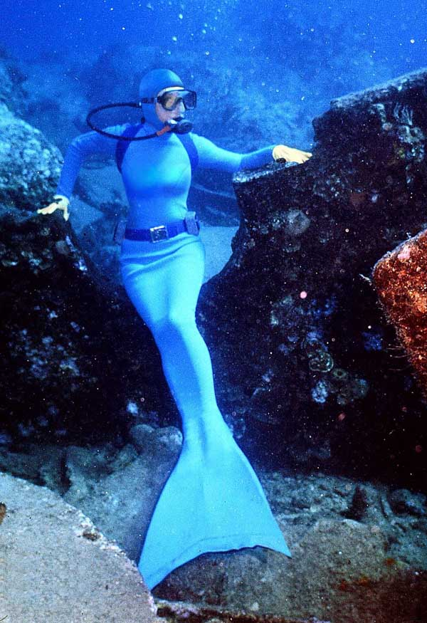 Mermaid Lycra Zentai Halloween Costume Blue