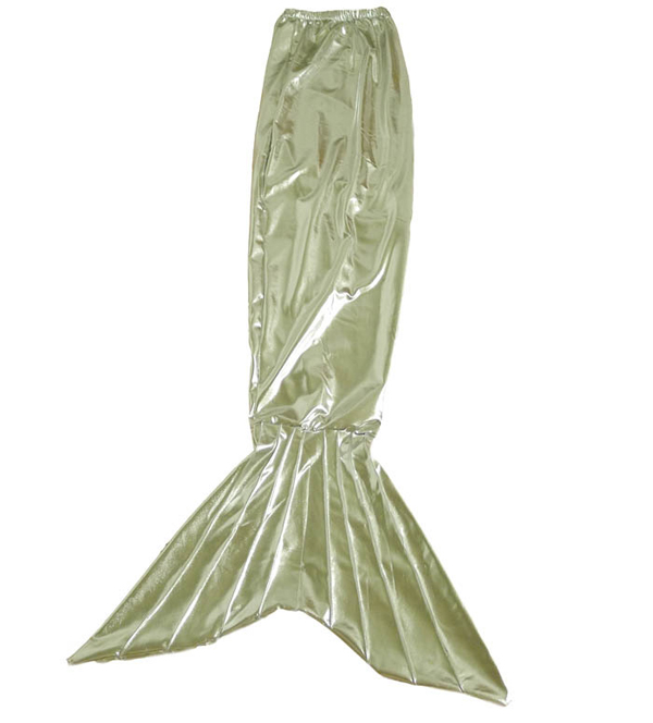 Mermaid Tail Shiny Spandex Halloween Costume Silver