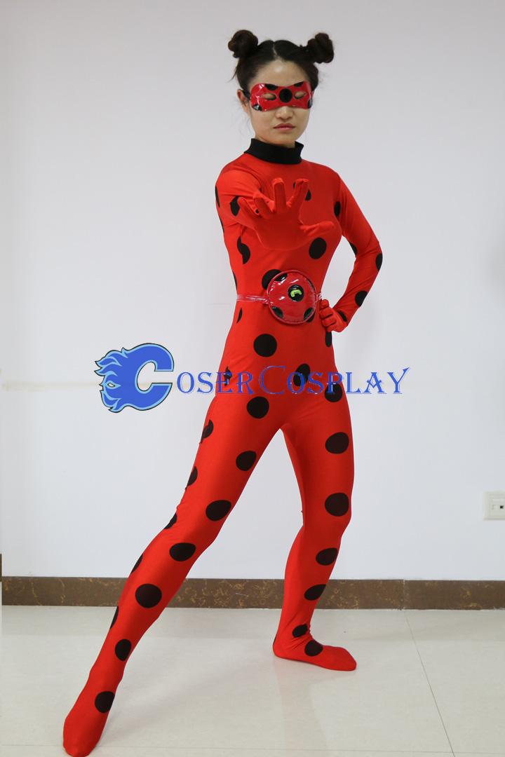 Miraculous Ladybug Marinette Catsuit Halloween Costume