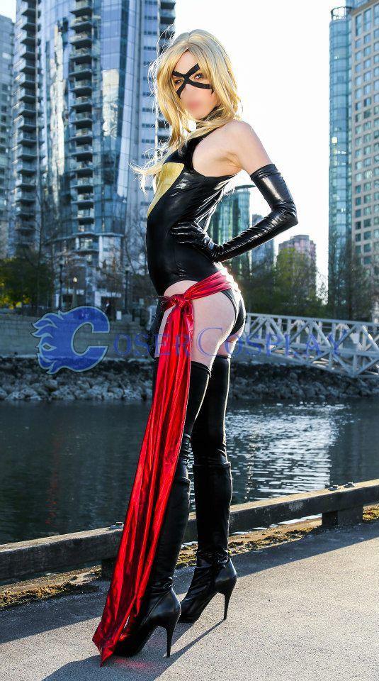Ms Marvel Carol Danvers Sexy Superhero Costumes