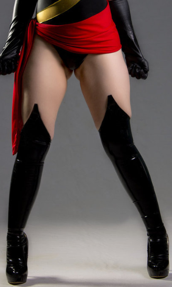 Z Ms Marvel Carol Danvers Sexy Thigh High Boots
