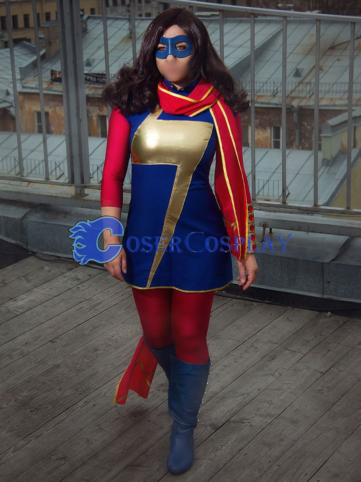 Ms Marvel Kamala Khan Cosplay Costume Halloween Girl